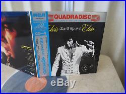 Elvis Presley 1972 Japan Only Quadara CD-4 LP THAT'S THE WAY IT IS Japanese