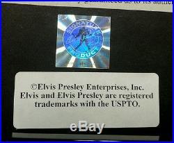 Elvis Presley 24 Kt Gold Plated Framed Record IT'S NOW OR NEVER / SURRENDER