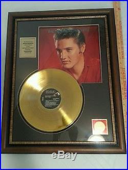 Elvis Presley 24 Kt Gold Plated Framed Record(number one hits)