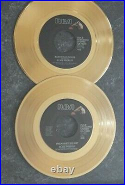 Elvis Presley 24kt Gold Plated Framed Records The Comeback Years Concert Ticket