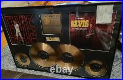 Elvis Presley, 24kt Gold Plated Records, Framed, Limited Edition 54/150
