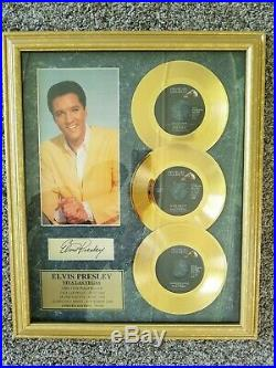 Elvis Presley 3 24KT. Gold Plated Records Limited Edition