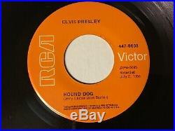 Elvis Presley 45 Hound Dog/dont Be Cruel Rare Orange Lbl Gold Standard Nm++