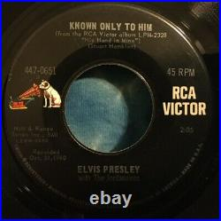 Elvis Presley 45 Joshua Fit The Battle / Known Only To Him PS Picture Sleeve