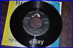 Elvis Presley 45 LIVING STEREO Record 61-7777 A Mess of Blues Now or Never MINT