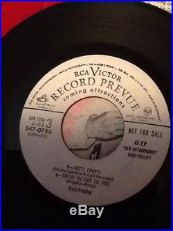 Elvis Presley 45 Picture Sleeve Collectible Ep EPB-1254 White Label Promo Rare