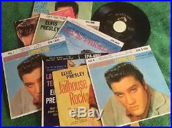 Elvis Presley 45-RPM (1950's) records Mint Condition with carrying case