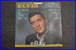 Elvis Presley 45 Record 447-0651 Joshua Fit the Battle / Known Only to Him PROMO