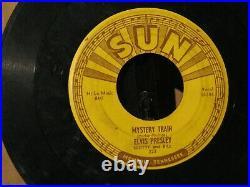 Elvis Presley 45 on SUN label Mystery Train/ I Forgot to Remember. 1955