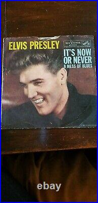 Elvis Presley 45 record now or never a mess of blues