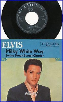 Elvis Presley 45's deutsche RCA 47-0651 & 0652 Milky White Way & Joshua Fit The