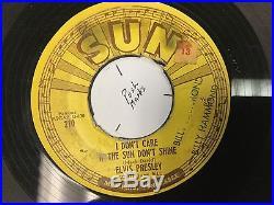 Elvis Presley 45Rpm Record- Sun 210- Good Rockin' Tonight