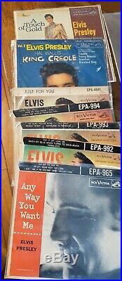 Elvis Presley 45rpm Lot Of 61
