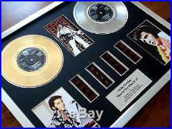 Elvis Presley 7 Gold Platinum Disc Record Award & Film Cell Display Montage