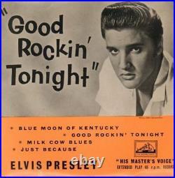 Elvis Presley(7 Vinyl)Good Rockin' Tonight EP-HMV-7EG 8256-UK-1957-VG+/VG