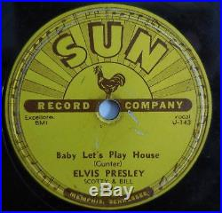Elvis Presley 78 Baby Let's Play House/I'm Left You're Right. Original Sun 217