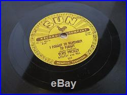 Elvis Presley 78 Mystery Train/I Forgot To Remember To Forget Sun #223