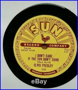 Elvis Presley 78 RPM Sun Record Good Rockin Tonight #210 Mint