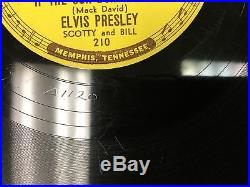 Elvis Presley 78 Rpm Record-Sun 210-Good Rockin' Tonight-Original -Great