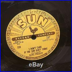 Elvis Presley 78 Rpm Record Sun 210 Good Rockin' Tonight Original Rare