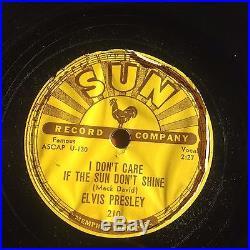 Elvis Presley 78 Rpm Record-Sun 210-Good Rockin' Tonight-Original early