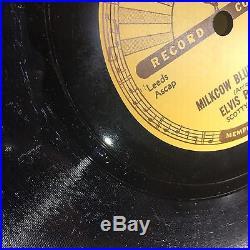 Elvis Presley 78 Rpm Record Sun 215 Milkcow Blues Boogie Record
