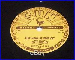 Elvis Presley 78 Sun 209 1970's Vinyl Repro E+ Blue Moon of KY That's All Right