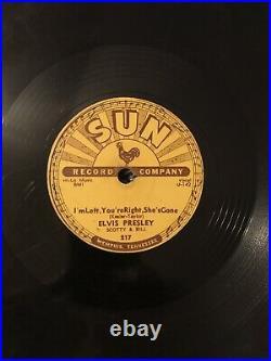 Elvis Presley 78 rpm Sun label. Original 1955