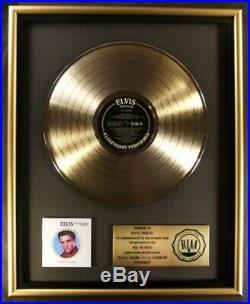 Elvis Presley A Legendary Performer Volume 3 LP Gold RIAA Record Award RCA