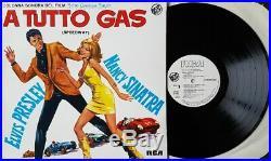 Elvis Presley A TUTTO GAS Italy only vinyl WHITE LABEL PROMO LP RARE