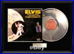 Elvis Presley Aloha From Hawaii Lp Album White Gold Silver Platinum Tone Record