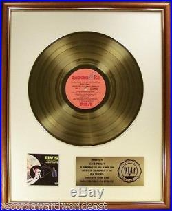 Elvis Presley Aloha From Hawaii Via Satellite LP Gold RIAA Record Award To Elvis