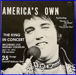 Elvis Presley Americas Own Live In Concert July 19,1975 Nassau Coliseum LP