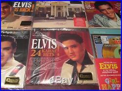 Elvis Presley Audiophile 45 Speed 10 Lp Set Plus 33/13 Live Memphis + Girl Happy