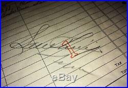 Elvis Presley Autograph Sam Phillips Signed SUN Record receipt 1953 Demo Acetate