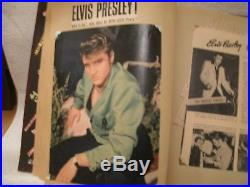 Elvis Presley Autograph Scrap Book Cut Out record sleeves tickets glosses