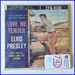 Elvis Presley Autograph Signed Love Me Tender Record Hollywood Posters