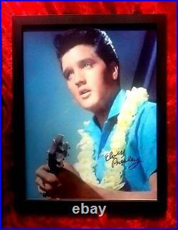 Elvis Presley BLUE HAWAII PLATINUM RECORD AWARD + 8 X 10 framed signed Elvis