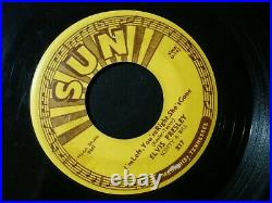 Elvis Presley Baby Let's Play House 45 Record Original Sun 217 Push Mark