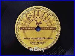 Elvis Presley. Baby Let's Play House. Original Sun Records #217, 78 rpm 1955