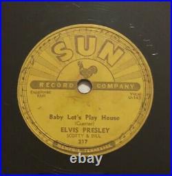 Elvis Presley Baby Let's Play House & Right Left Gone Original 78 RPM Sun 217