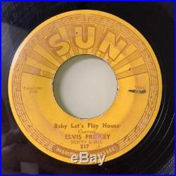Elvis Presley Baby Lets Play House + Im Right You SUN 45 ORIGINAL VG LISTEN