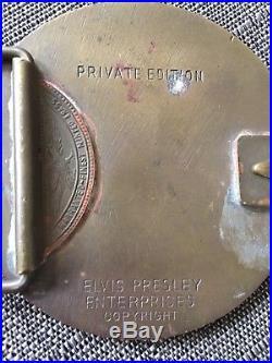 Elvis Presley Best Wishes Sun Record Brass Belt Buckle