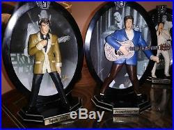 Elvis Presley, Bradford Exchange Record Breaking Performances lot of 8 statues