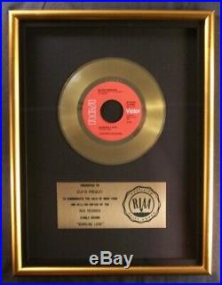 Elvis Presley Burning Love 45 Gold RIAA Record Award RCA Records To Elvis