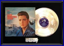 Elvis Presley Christmas Album Framed Lp Vinyl Gold Metalized Record Rare