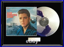 Elvis Presley Christmas Lp White Gold Silver Metalized Vinyl Record Lp Album