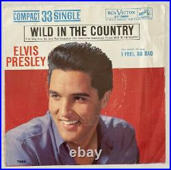 Elvis Presley Compact 33 37-7880 RARE I Feel So Bad / Wild In The Country