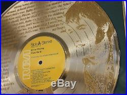 Elvis Presley Custom Framed Gold Clad Record Display Ltd Edition Ships Us Free 7