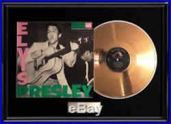 Elvis Presley Debut Lpm 1254 Album Framed Gold Metalized Vinyl Record Lp